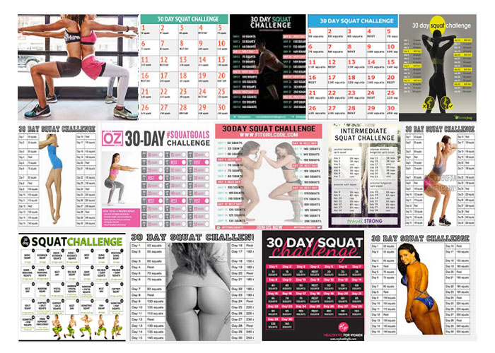 Squat challenge Google collage