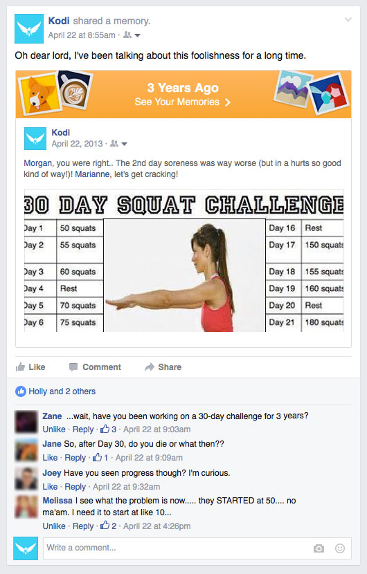 Squat challenge FB collage